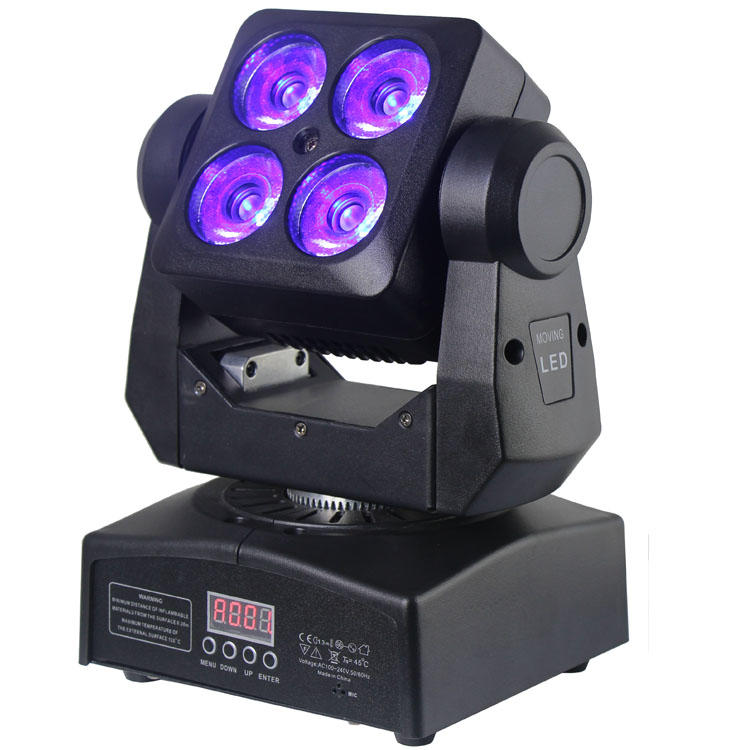 Moving Head Light XY Endless Rotation 4PCS 12W 4 In1 LED Wash SL-1412A