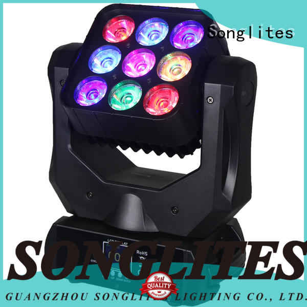 Songlites Brand pocket wash stage disco lights 9pcs moving