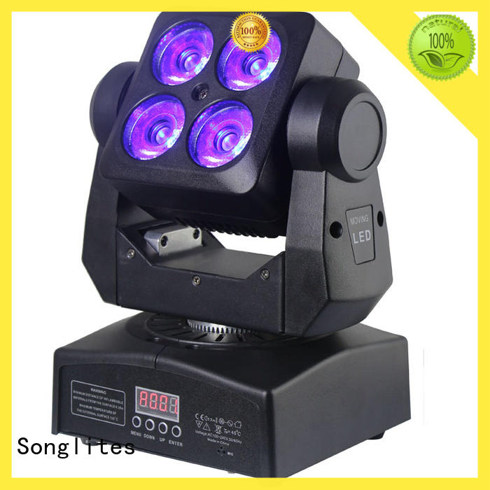 Songlites High brightness rotating stage lights led for ballroom