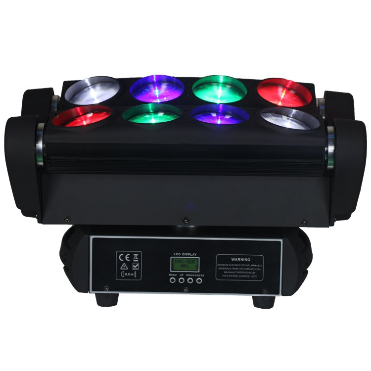 Songlites Spider 8PCS 10W RGBW 4in1 LED Beam Effect Moving Head Light SL-1031C-4IN1 Beam Effect Moving Head Light image8