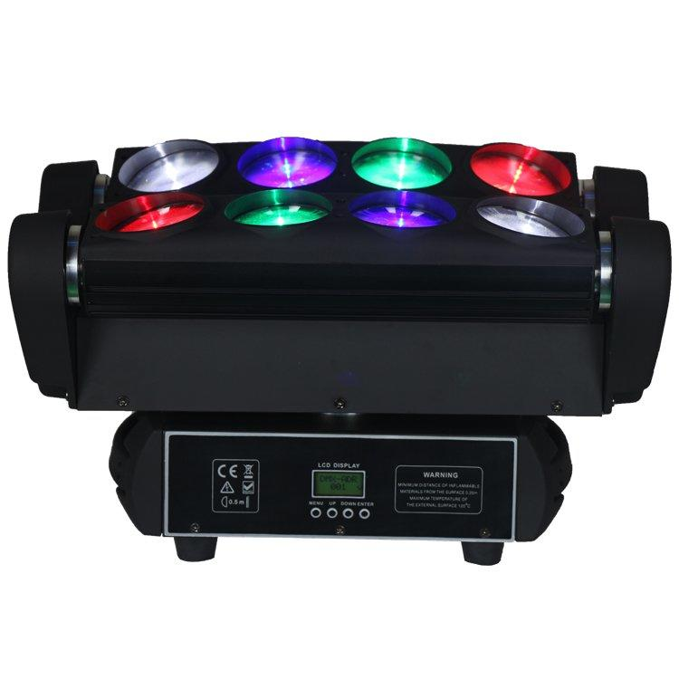 Spider Moving Head Light 8PCS 10W RGBW 4in1 LED Beam Effect SL-1031C-4IN1