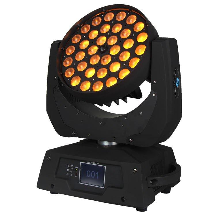 36PCS 18W 6in1 LED Wash Zoom Moving Head Light SL-1006B-6in1