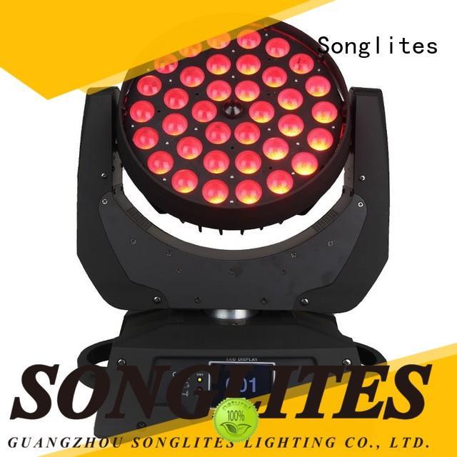Songlites led led wash zoom manufacturer for concerts