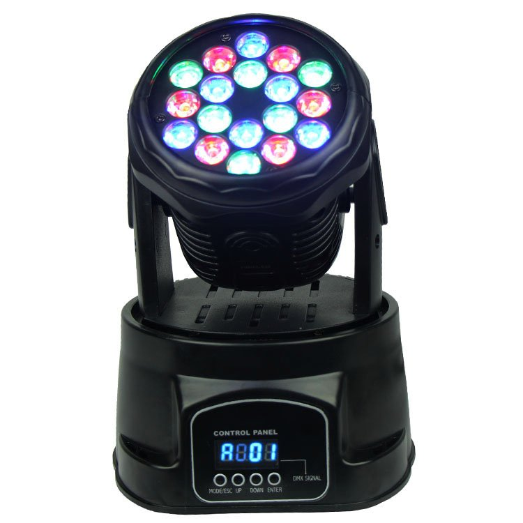 Songlites 18PCS 3W RGB Mini Wash Moving Head Light SL-1005 Wash Normal Moving Head Light image26