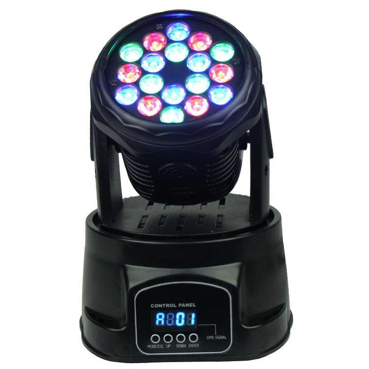 Wash Moving Head Light 18PCS 3W RGB Mini SL-1005