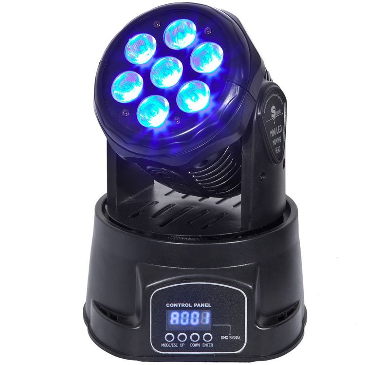 Songlites 7PCS 10W 4in1 Mini Wash Moving Head Light SL-1005-4in1 Wash Normal Moving Head Light image21