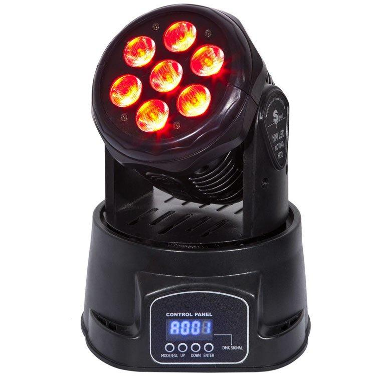 7PCS Moving Head Light 12W 5in1 Mini Wash SL-1005-5IN1