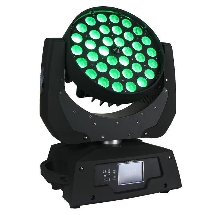 Songlites 36PCS 10W 4 In1 LED Wash Zoom Moving Head Light SL-1006B3 Wash Zoom Moving Head Light image14