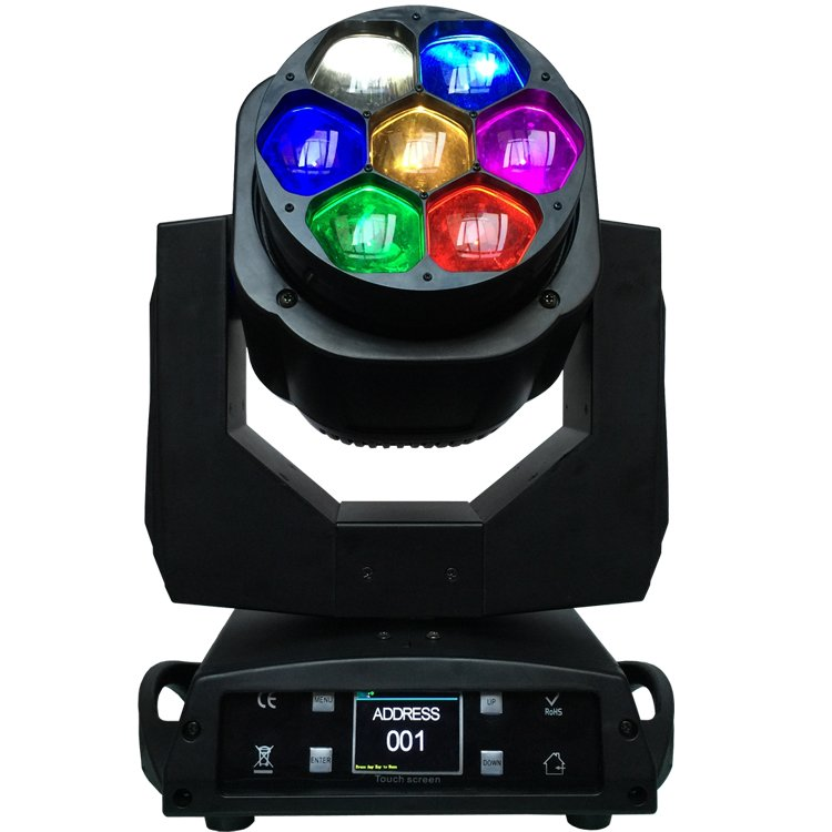 Songlites Bee Eye 7PCS 15W (OSRAM OSTAR) 4in1 RGBW LED Moving Head Light SL-1037 Wash Zoom Moving Head Light image6