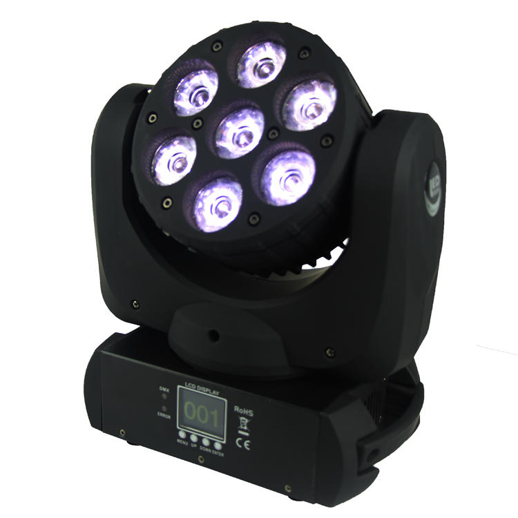 4 In1 Moving Head Light 7PCS 12W Osram Beam LED SL-1012A