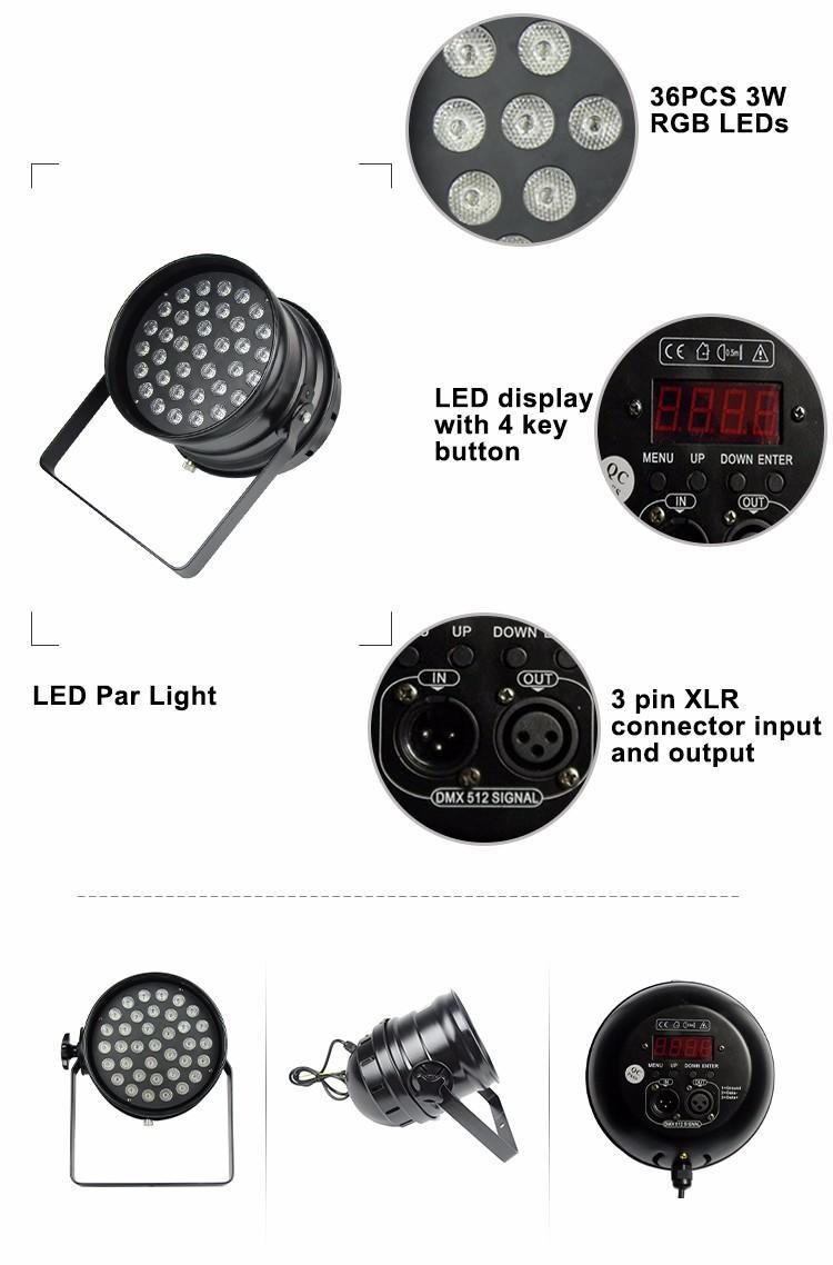 led par can 54 led par light 10w Songlites