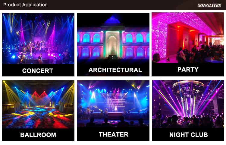 can leds rgbw indoor party lights Songlites Brand
