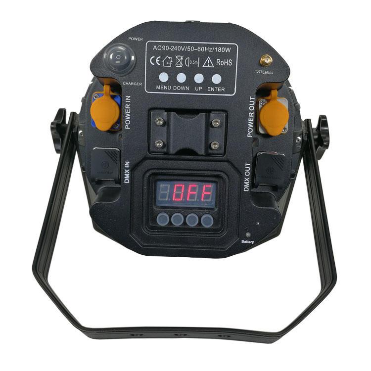 9pcs 18w 6IN1 waterproof outdoor wireless battery par can SL-2029