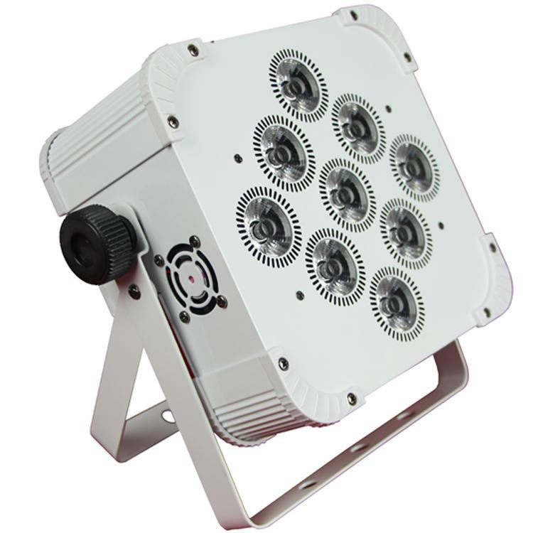 9pcs 18W 6IN1 RGBWA UV LED Flat Par Light SL-3119AN