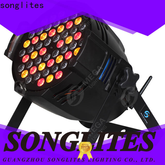Songlites strong dmx led par lights adjustable speed for parties