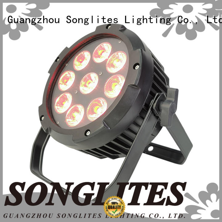 Songlites battery cheap par lights supplier for wedding