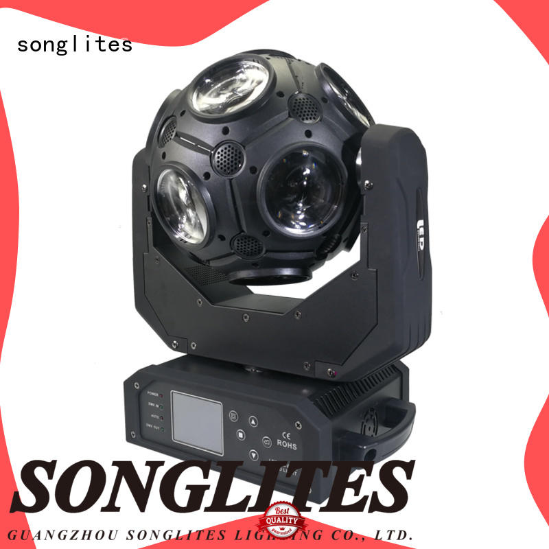 Songlites high brightness spot beam light performance for performances