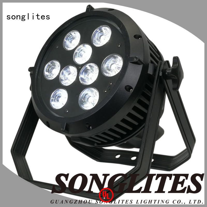 Songlites can dmx par can lights with a small size, for theaters