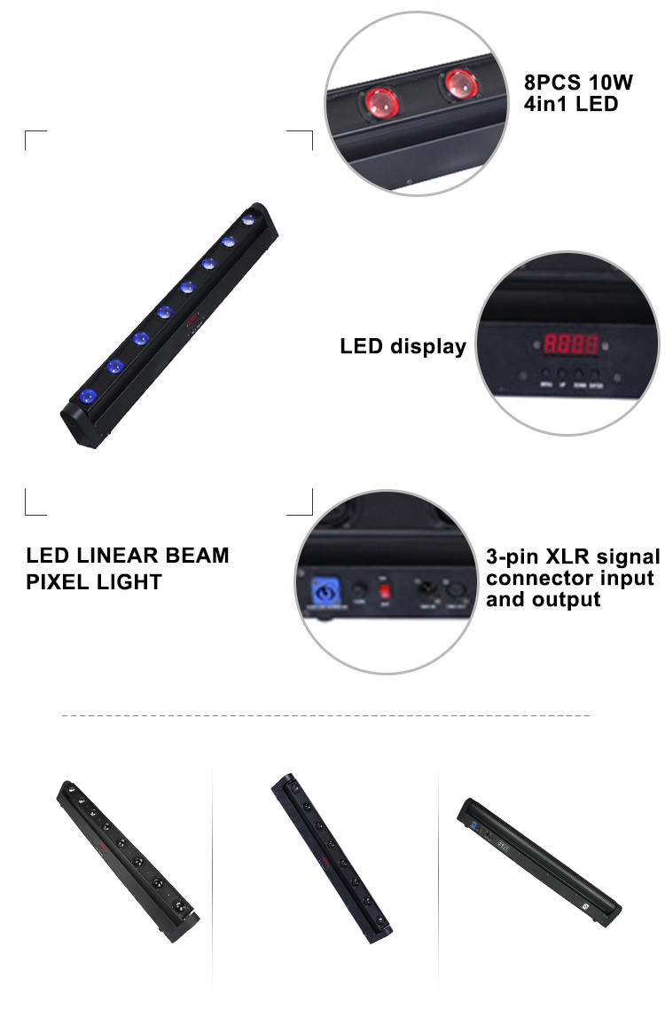 led linear beam pixel light