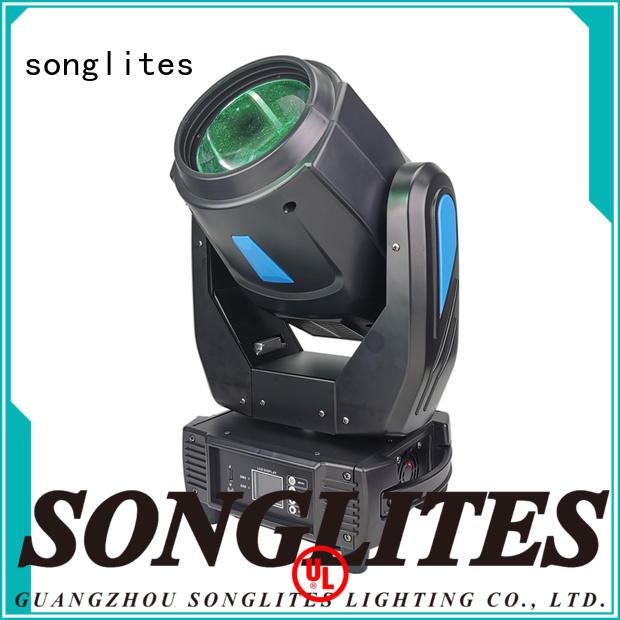 Songlites adjustable beam moving head light energy saving for party