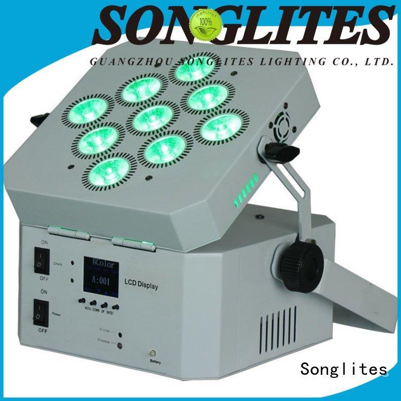 Songlites Electronic dmx led par lights low noise for shopping centers